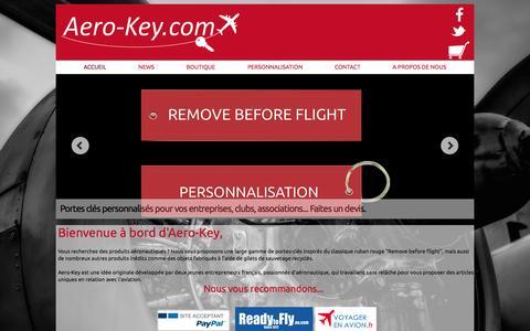 Screenshot of Home Page aero-key.com - Aero-Key : ACCUEIL - captured Jan. 27, 2015