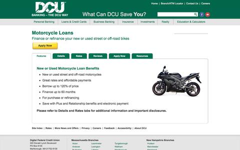 Motorcycle Loans | DCU | Massachusetts | New Hampshire