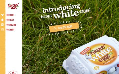 Screenshot of Home Page thehappyegg.co.uk - The Happy Egg Company UK - Free Range Eggs are Happy Eggs! - captured Sept. 25, 2014