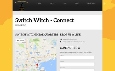 Screenshot of Contact Page switch-witch.com - Switch Witch - Connect - captured April 10, 2017