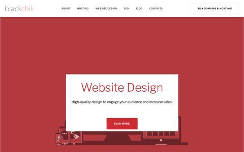 Screenshot of Home Page blackchili.co.uk - Welcome to Black Chili - Website Hosting, Design & SEO - captured Oct. 5, 2018