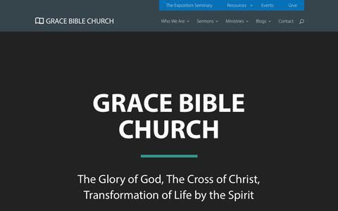 Screenshot of Home Page gbcaz.org - Grace Bible Church in Tempe, Arizona - Moved by a Biblical vision of God, we seek to fulfill the gospel-Purpose of Jesus Christ - captured Sept. 30, 2018