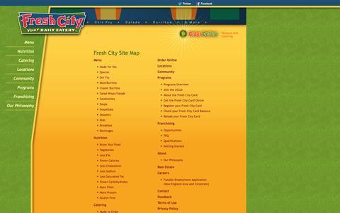 Screenshot of Site Map Page freshcity.com - Sitemap | www.freshcity.com - captured Sept. 30, 2014
