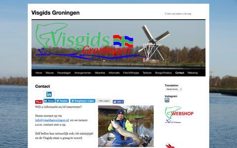 Screenshot of Contact Page visgidsgroningen.nl - Contact - Visgids Groningen - captured June 13, 2017