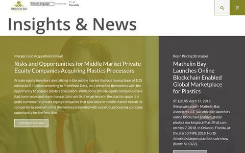 Screenshot of Press Page mathelinbay.com - Insights & News - Mathelin Bay - captured Oct. 17, 2018