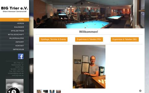 Screenshot of Home Page big-trier.de - Wilkommen auf BIG Trier e.V. - captured June 8, 2016