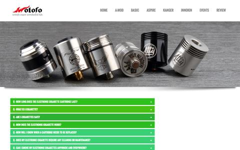 Screenshot of FAQ Page wotofotech.com - how do electronic cigarettes work - captured Oct. 1, 2014