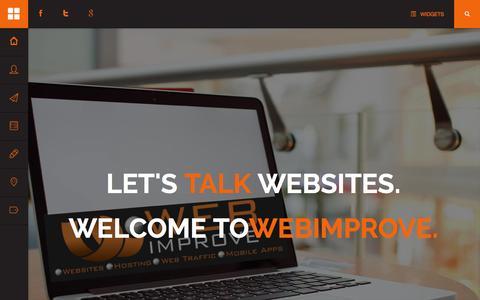 Screenshot of Home Page webimprove.co.za - Website design | Website development in Pretoria - captured Oct. 1, 2015
