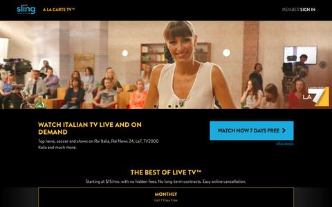 Sling TV - Watch Live TV Programming Any Time and Anywhere""