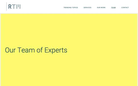 Screenshot of Team Page thisisrtm.com - Team - RTM - captured Oct. 18, 2018