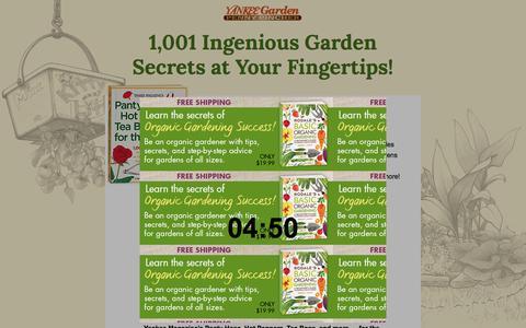 Screenshot of Landing Page hearstproducts.com - Pantyhose, Hot Peppers and Tea Bags - 1,001 Ingenius Garden Secrets - captured Aug. 2, 2018