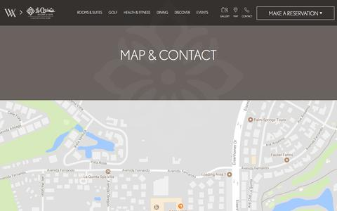 Screenshot of Contact Page Maps & Directions Page laquintaresort.com - Map & Contact | La Quinta Resort & Club - captured June 25, 2017