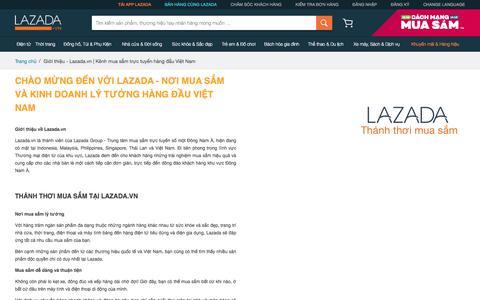 Giới thiệu - Lazada.vn | Kênh mua sắm trực tuyến hàng đầu Việt Nam