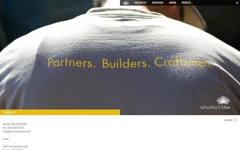Screenshot of Contact Page schuchartdow.com - Contact | Schuchart/Dow - captured Oct. 29, 2014