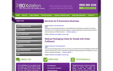 Screenshot of Blog boxstation.co.uk - Order Fulfilment Blog by BOXstation - captured Sept. 30, 2014