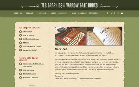 Screenshot of Services Page tlcgraphics.com - Services | TLC Graphics - captured Nov. 2, 2017