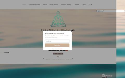 Screenshot of Home Page essencehealing.net - Essence of Healing Salem MA - captured Jan. 31, 2016