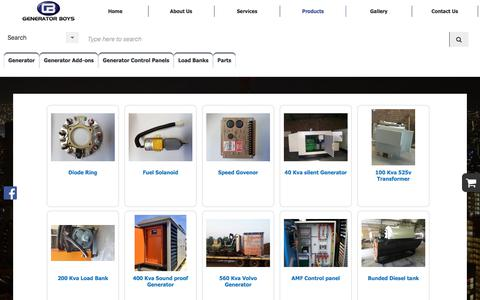 Screenshot of Products Page generator-boys.co.za - Products For Sale | Generator Boys in Gauteng - captured July 17, 2018