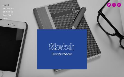 Screenshot of Home Page sketchsocialmedia.co.uk - Sketch Social Media - captured Oct. 9, 2014