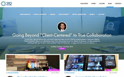 Screenshot of Blog 352inc.com - 352 Inc - Blog | 352 - captured Oct. 27, 2014