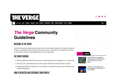 Community Guidelines | The Verge