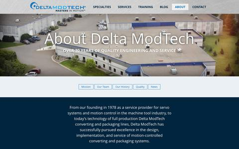 Screenshot of About Page deltamodtech.com - About Delta ModTech | Delta ModTech - captured Feb. 9, 2016