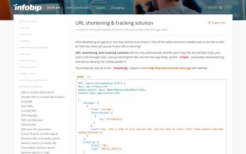 URL shortening & tracking solution · SMS API | Infobip