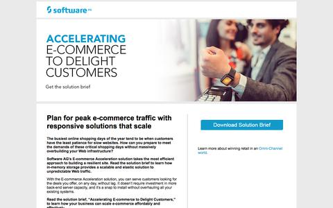 Screenshot of Landing Page softwareag.com - Accelerating E-commerce to Delight Customers - captured June 4, 2018