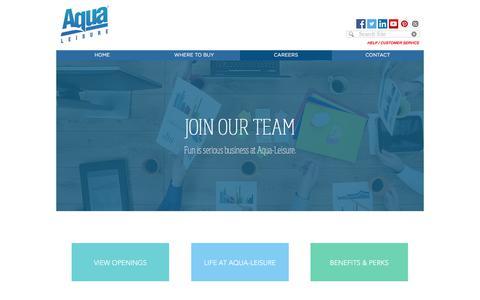 Screenshot of Jobs Page aqualeisure.com - aqua-leisure   CAREERS - captured Oct. 8, 2017