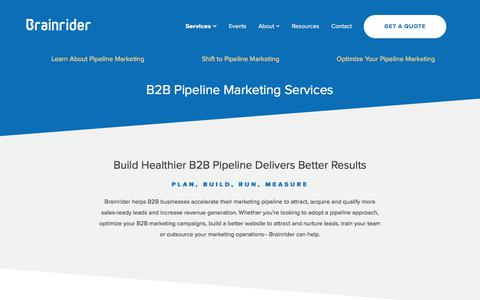 B2B Pipeline Marketing Services