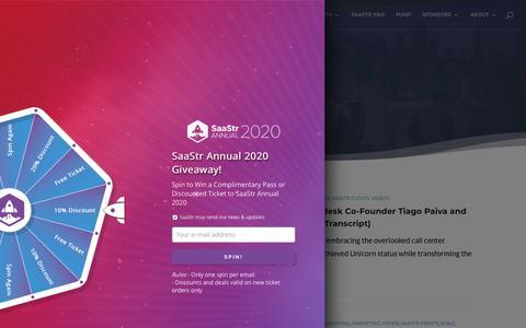 Screenshot of Team Page saastr.com - Leadership Archives | SaaStr - captured July 11, 2019