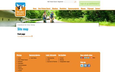 Screenshot of Site Map Page fietsenscoort.nl - Site map | Fietsen Scoort - captured Oct. 31, 2014