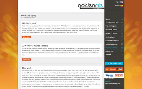 Screenshot of Press Page goldenniletravel.com - Golden Nile Travel Service   News - captured July 21, 2018