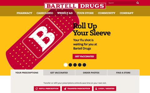 Screenshot of Home Page bartelldrugs.com - Bartell Drugs – Washington's Neighborhood Drugstore - captured Oct. 1, 2015
