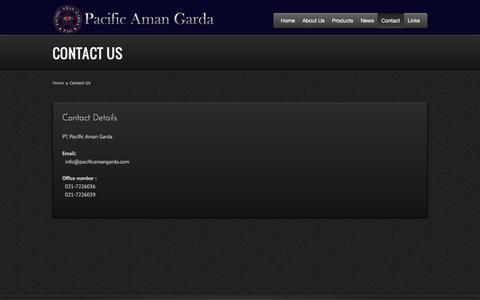Screenshot of Contact Page pacificamangarda.com - Contact - Pacific Aman Garda Official Website - captured Oct. 15, 2016