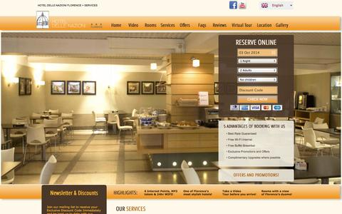 Screenshot of Services Page dellenazioni.it - Hotel Delle Nazioni Florence - Accommodation Firenze Italy - captured Oct. 3, 2014
