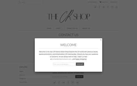 Screenshot of Contact Page crfashionbookshop.com - Contact Us                           | The CR Fashion Book Shop - captured March 17, 2016