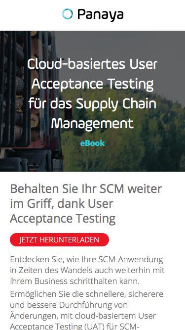 Cloud-basiertes UAT für das Supply Chain Management – eBook von Panaya