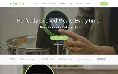 Screenshot of Products Page nomiku.com - Products | Nomiku - captured Nov. 25, 2016