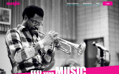 Screenshot of Home Page murfie.com - Murfie Music - captured March 20, 2019