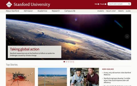 Screenshot of Home Page stanford.edu - Stanford University - captured Dec. 2, 2015