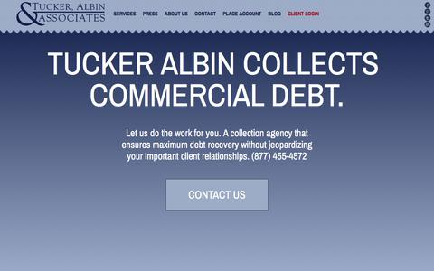 Screenshot of Home Page tuckeralbin.com - Commercial Collection Agency | Tucker Albin & Assoc. - captured June 25, 2017