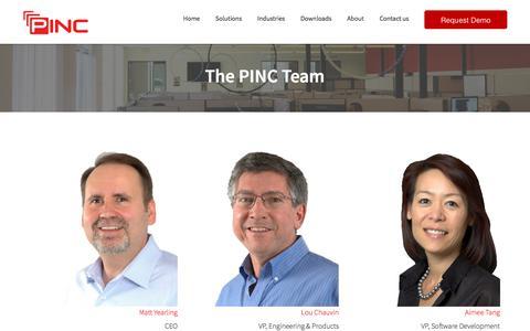 Screenshot of Team Page pinc.com - TEAM PINC - #1 Yard Management, Finished Vehicle Logistics, and Inventory Robotics solutions. - captured Jan. 16, 2018
