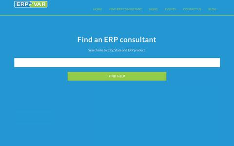 Screenshot of Home Page erpvar.com - ERP Consultant and Accounting Software Enhancement Directory - captured Nov. 15, 2018
