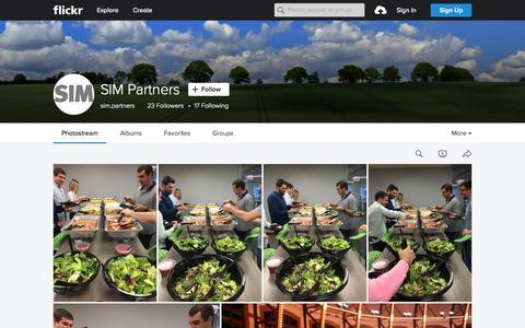Screenshot of Flickr Page flickr.com - SIM Partners   Flickr - Photo Sharing! - captured Nov. 23, 2015