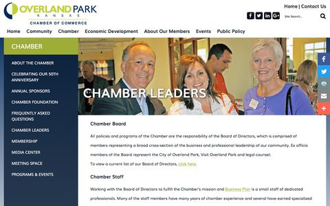 Screenshot of Team Page opchamber.org - Overland Park Chamber of Commerce - Chamber Leaders - captured Oct. 25, 2017