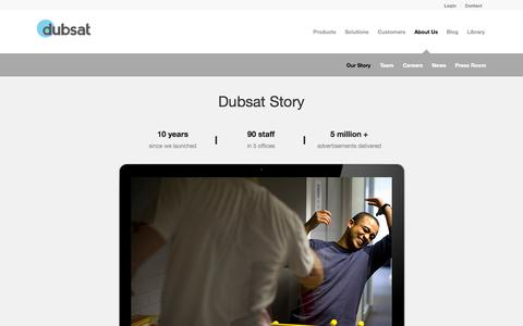 Screenshot of About Page dubsat.com - Dubsat | Our Story | Dubsat - captured Sept. 23, 2014