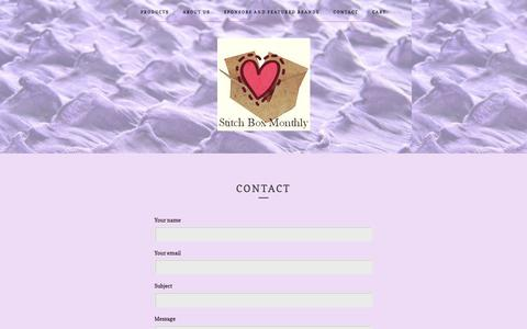 Screenshot of Contact Page bigcartel.com - Contact / Stitch Box Monthly - captured Feb. 22, 2018
