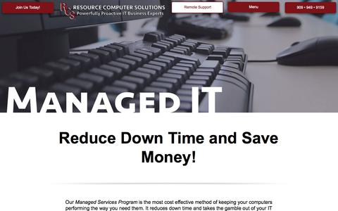 Screenshot of Services Page resourcecomputer.com - Managed IT Services | Resource Computer Solutions - captured Nov. 9, 2017