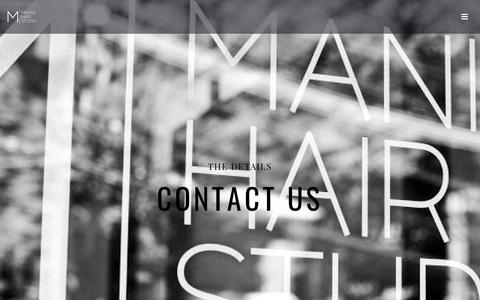Screenshot of Contact Page maniahair.com - Contact Mania Hair Studio- Get In Touch | Park Ridge, NJ - captured Oct. 31, 2018